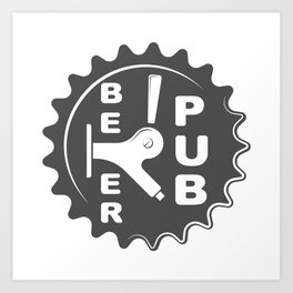 Black Beer Pub Brewery Handcrafted style Fashion Modern Design Print! Art Print