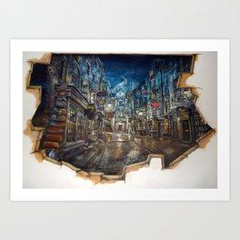 Breach to Diagon Alley Art Print