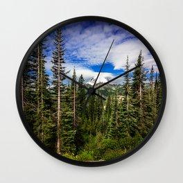 Mt Rainier National Park Wall Clock