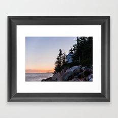 bass harbor head lighthouse, acadia national park Framed Art Print