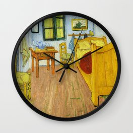 1888-Vincent van Gogh-The Bedroom-72x90 Wall Clock