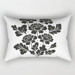 Black roses bouquet Rectangular Pillow