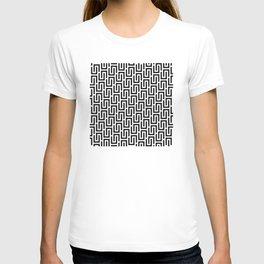 Geometric Pattern #140 (black white) T-shirt