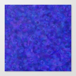 Royal Blue Floral Abstract Canvas Print