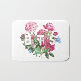 BTS Flowers Bath Mat