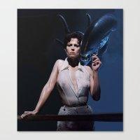 alien Canvas Prints featuring alien by Roman Belov