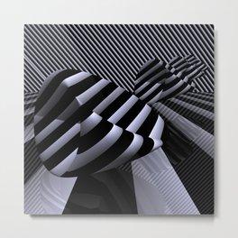 Steiner's Surface in OpArt-design Metal Print