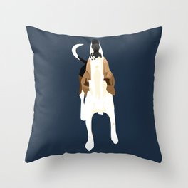 Copper Howl Throw Pillow