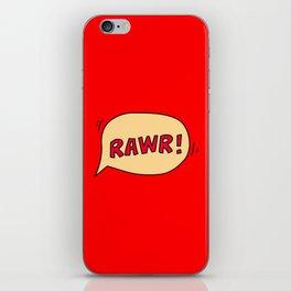 Rawr speech bubble iPhone Skin