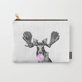 Bubble Gum Moose in Black and White Carry-All Pouch