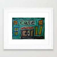 cafe Framed Art Prints featuring cafe by songs for seba