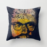 howl Throw Pillows featuring Howl by Alec Goss