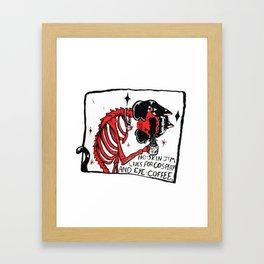 No-Skin Jim Cosplay Framed Art Print