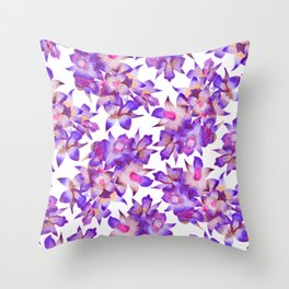 Vintage Floral Violet Throw Pillow