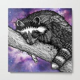 Galaxy Raccoon Metal Print