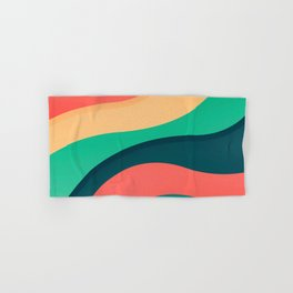 The river, abstract painting Hand & Bath Towel