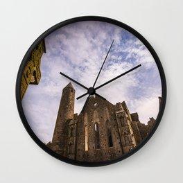 Rock of Cashel historic ruins in Ireland Wall Clock