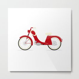 Moped Metal Print