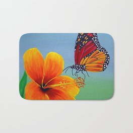 Lily with Butterfly Bath Mat