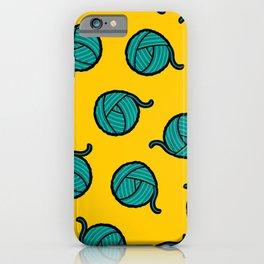 Wool & Yarn Pattern iPhone Case