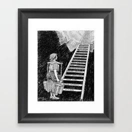 Women's Rights Illustration 1920 - The Sky is Now Her Limit Framed Art Print