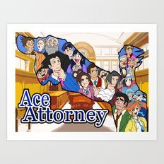 Ace Attorney  Art Print