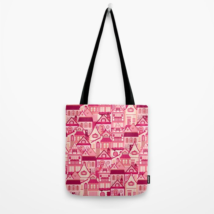 Pink Little Town Tote Bag
