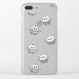Swimming Tea Bag Clear iPhone Case