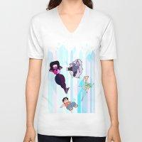 steven universe V-neck T-shirts featuring Steven Universe by EclecticMayhem