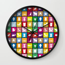 silhouettes of animals Wall Clock