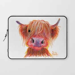 Scottish Highland Cow ' CHILLI CHOPS ' by Shirley MacArthur Laptop Sleeve