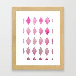 harlequin pink Framed Art Print