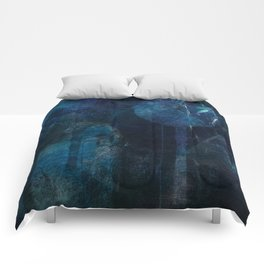 blue night Comforters