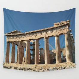 Parthenon, Acropolis of Athens, Greek photography, ancient Greece Wall Tapestry
