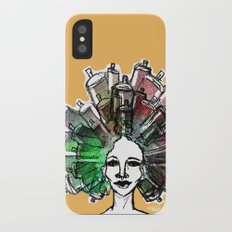 Paint the town iPhone X Slim Case