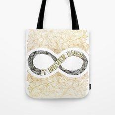 Infinity - Gold Tote Bag