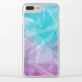 Stained Glass - Blue Purple Clear iPhone Case