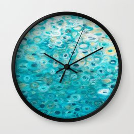 Tide Pool Reflections 3 Wall Clock