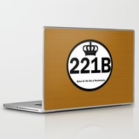 221b Laptop & iPad Skins featuring 221B by Lugonbe