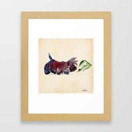 Scottie and a ladybug Framed Art Print