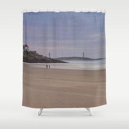 Twin Lights at Good Harbor beach Shower Curtain