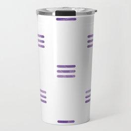 Violet Purple Stripes Pattern White Backgrund Travel Mug