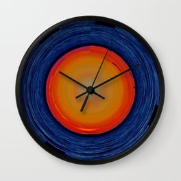 Circular Sunset Wall Clock