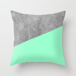 Geometry 101 Mint Meringue Throw Pillow