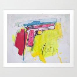 Pink Pistol Art Print