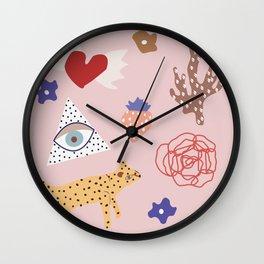 pastel dreams Wall Clock