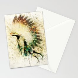 Native American Boho Headdress Sideview Stationery Cards
