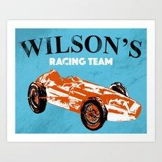 Racing Car Art Print Art Print