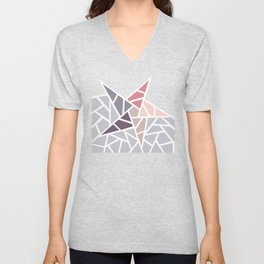 Contemporary Mosaic Star Design Unisex V-Neck
