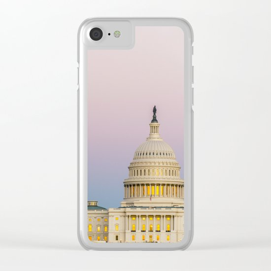 Sunrise Moon Clear iPhone Case